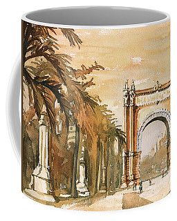 Coffee Mug featuring the painting Arch- Barcelona, Spain by Ryan Fox