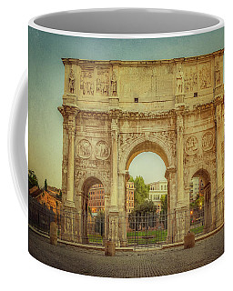 Coffee Mug featuring the photograph Arch Of Constantine Rome Italy by Joan Carroll