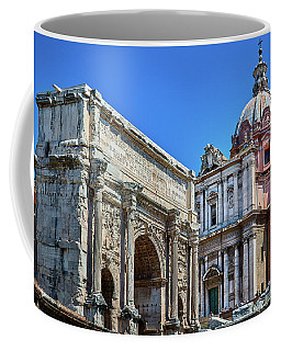 Coffee Mug featuring the photograph Arch Of Septimius Severus At The Roman Forum by Eduardo Jose Accorinti