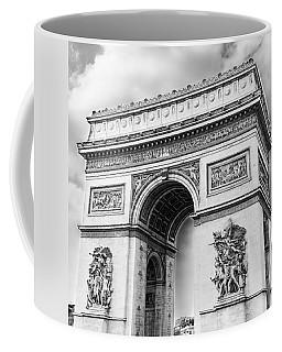 Arch Of Triumph - Paris - Black And White Coffee Mug