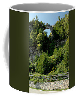 Coffee Mug featuring the photograph Arch Rock Mackinac Island by LeeAnn McLaneGoetz McLaneGoetzStudioLLCcom