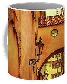 Coffee Mug featuring the photograph Arch Way In Old Town. Series Golden Prague by Jenny Rainbow