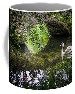 Arched Bridge And Swan At Doneraile Park Coffee Mug