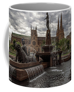 Archibald Fountain And St Mary's Cathedral Coffee Mug