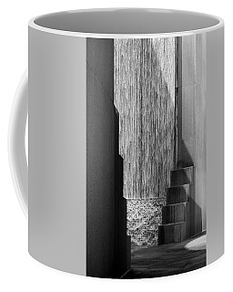 Architectural Waterfall In Black And White Coffee Mug