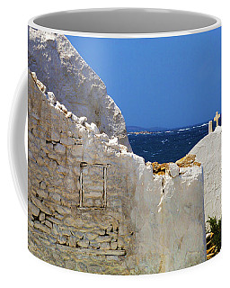 Coffee Mug featuring the photograph Architecture Mykonos Greece 2 by Bob Christopher