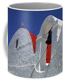 Coffee Mug featuring the photograph Architecture Mykonos Greece by Bob Christopher