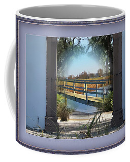 Archway To Wooden Bridge Montage Coffee Mug