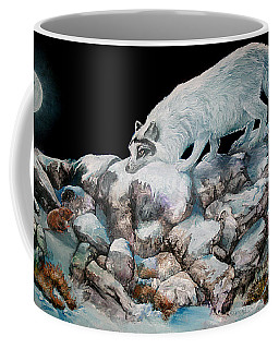 Coffee Mug featuring the painting Arctic Encounter by Sherry Shipley