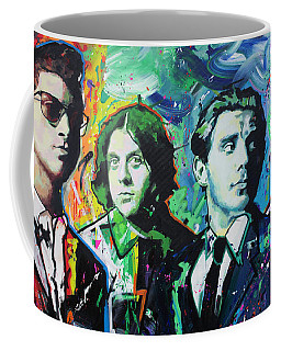 Coffee Mug featuring the painting Arctic Monkeys by Richard Day