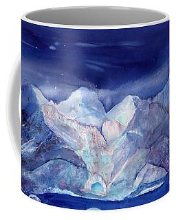Moonlight Over The Glacier Coffee Mug