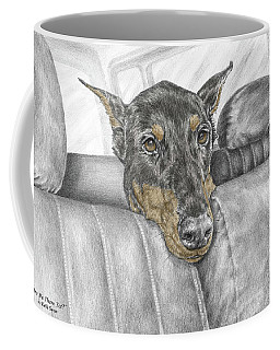 Are We There Yet - Doberman Pinscher Dog Print Color Tinted Coffee Mug