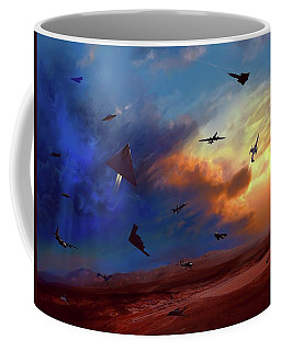 Area 51 Groom Lake Coffee Mug by Dave Luebbert
