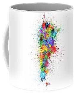 Argentina Paint Splashes Map Coffee Mug