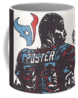 Coffee Mug featuring the drawing Arian Foster 2 by Jeremiah Colley