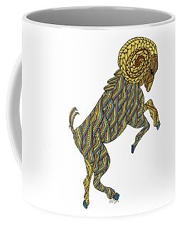 Coffee Mug featuring the drawing Aries by Barbara McConoughey