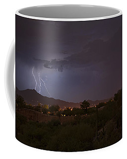 Coffee Mug featuring the photograph Arizona Monsoon Lightning by Dan McManus