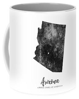 Arizona State Map Art - Grunge Silhouette Coffee Mug
