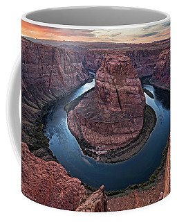Dusk Light At Horseshoe Bend Coffee Mug