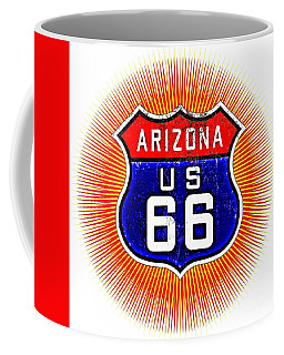 Arizona U S 66 Starburst Sign Coffee Mug by Peter Gumaer Ogden