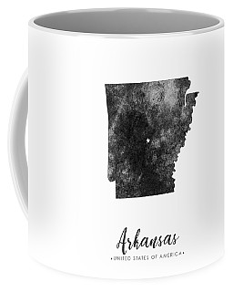 Arkansas State Map Art - Grunge Silhouette Coffee Mug