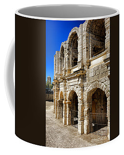 Coffee Mug featuring the photograph Arles Roman Amphitheater by Olivier Le Queinec