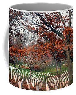 Coffee Mug featuring the photograph Arlington Cemetery In Fall by Carolyn Marshall