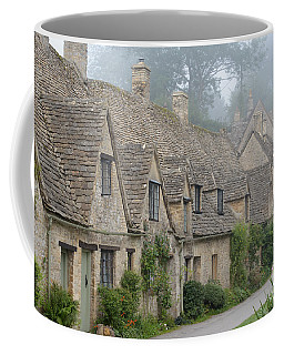 Arlington Row, Bibury In The Morning Fog Coffee Mug