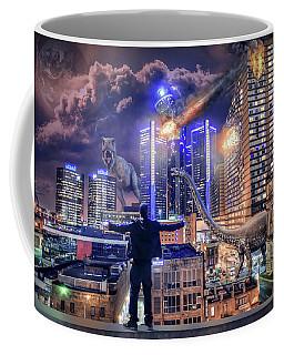 Coffee Mug featuring the photograph Armageddon Detroit by Nicholas Grunas