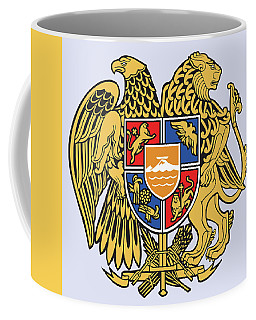 Coffee Mug featuring the drawing Armenia Coat Of Arms by Movie Poster Prints