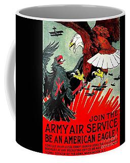 Army Air Service Recruitment Poster 1918 Coffee Mug