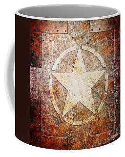 Army Star On Rust Coffee Mug