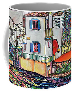 Coffee Mug featuring the painting Arneson Theatre In Blues by Patti Schermerhorn