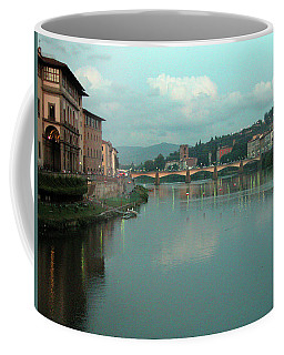 Coffee Mug featuring the photograph Arno River, Florence, Italy by Mark Czerniec