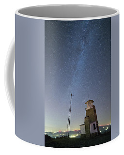 Coffee Mug featuring the photograph Arouca And The Milky Way by Bruno Rosa