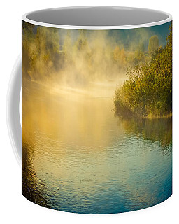 Coffee Mug featuring the photograph Around The Bend by Don Schwartz