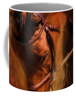 Around The First Turn Equestrian Art Coffee Mug