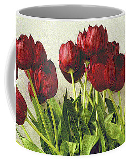 Array Of Red Tulips Coffee Mug by Nadalyn Larsen