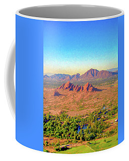 Arriving In Phoenix Digital Watercolor Coffee Mug