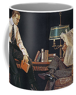 Coffee Mug featuring the photograph Arrow Shirt Collar Ad, 1914 by Granger