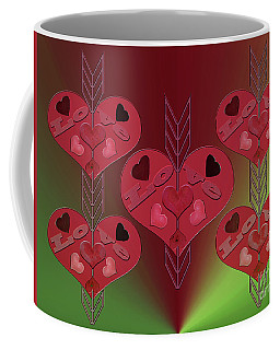 Coffee Mug featuring the photograph Arrows Shooting Love Hearts by Rockin Docks Deluxephotos