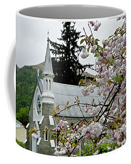 Arrowtown Church On A Rainy Day, New Zealand Coffee Mug