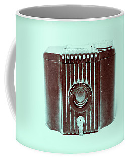 Art Deco Baby Brownie Blue Camera Coffee Mug