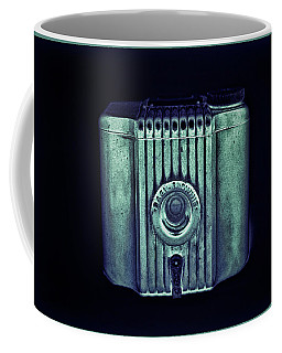 Art Deco Baby Brownie Green And Blue With Border Coffee Mug