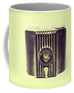 Art Deco Baby Brownie Yellow Camera Coffee Mug
