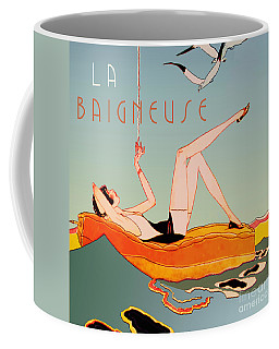 Art Deco Beach Bather Coffee Mug