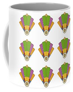Art Deco Fan 2 Multiview Coffee Mug