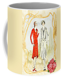Art Deco Fashion Girls Coffee Mug