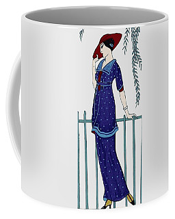 Art Deco Fashion Polka Dots Coffee Mug