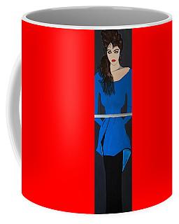 Art Deco  Girl Waiting Coffee Mug